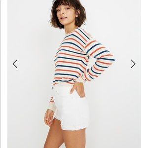NWT Madewell high rise white shorts